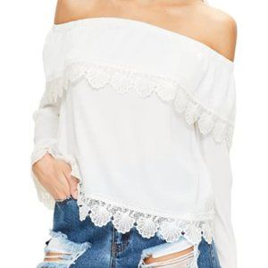 Nordstrom Missguided - White OTS Top